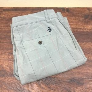 Penguin By Munsing Wear Shorts - PENGUIN BY MUNSING WEAR Men's Beige Plaids Casual